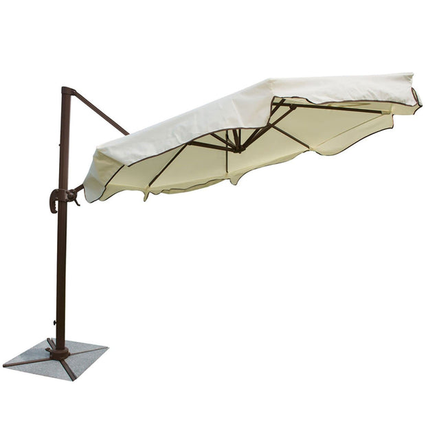 Island Breeze 10 ft Cantilever Umbrella with Stone Base
