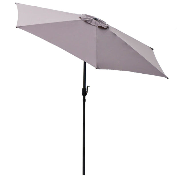 Grey 9 ft Aluminum Patio Umbrella
