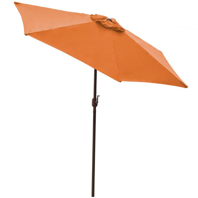 Orange 9 ft Aluminum Patio Umbrella