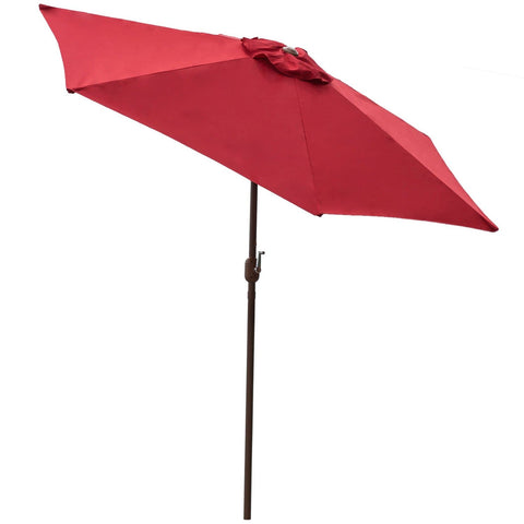 Red 9 ft Aluminum Patio Umbrella