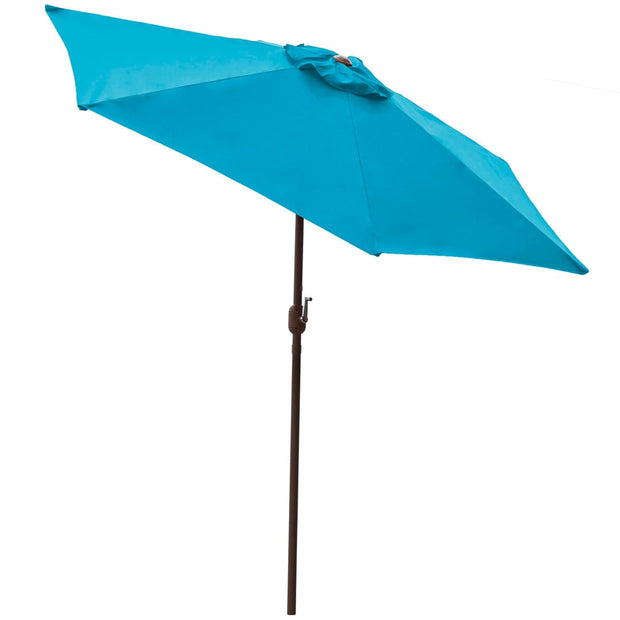 Teal 9 ft Aluminum Patio Umbrella