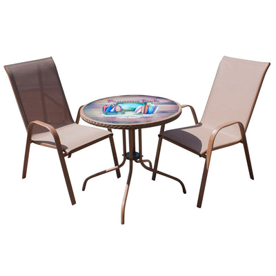 Café 3 PC Chairman of the Boards High Back Sling Bistro Set