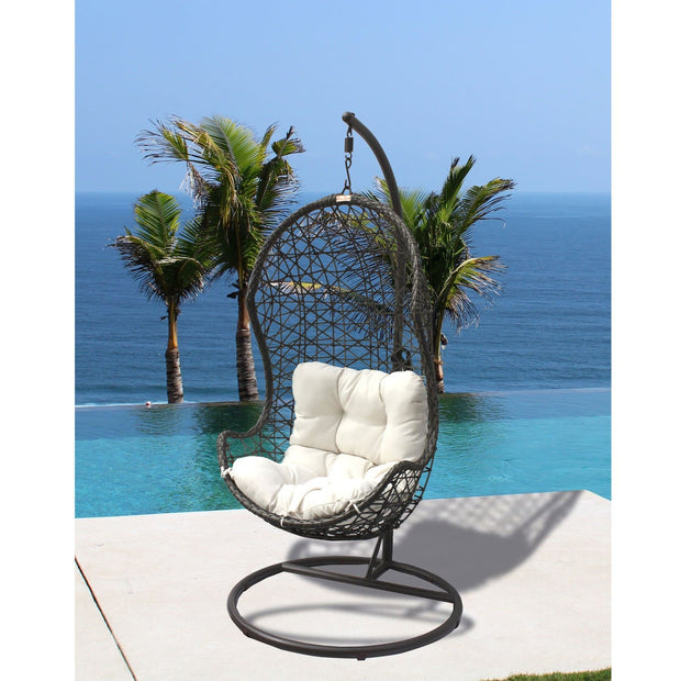 Hanging Chair with Metal Stand and Cushion