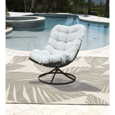 Outdoor Swivel Chair with Cushion