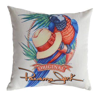 Panama Parrot Throw Pillow (Set of 2)