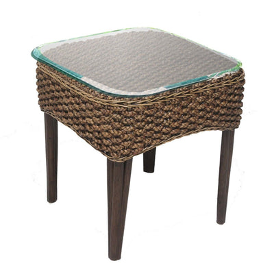 Sanibel End Table with Glass