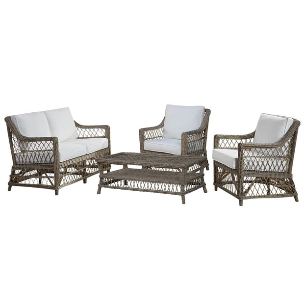 Seaside 4 PC Living Set with Cushions