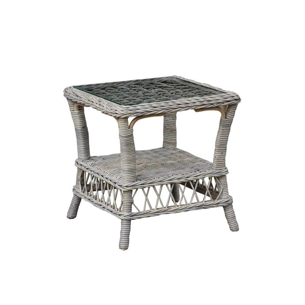 Seaside End Table with Glass