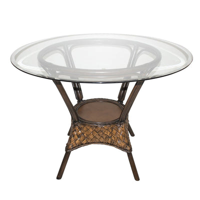 Espresso Dining Base with Glass