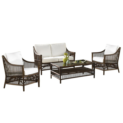 Bora Bora 4 PC Living Set with Cushions