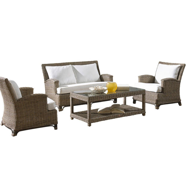 Exuma 4 PC Living Set with Cushions