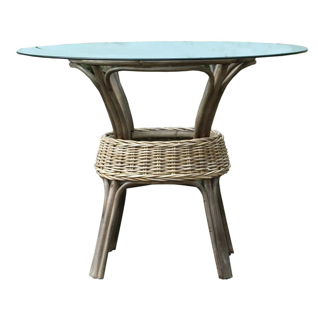 Exuma Stackable Dining Base with Glass