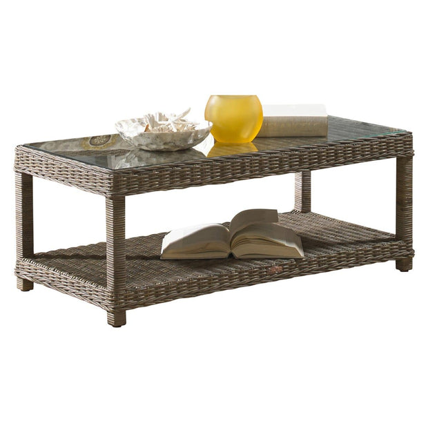 Exuma Coffee Table with Glass