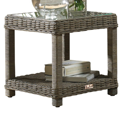 Exuma End Table with Glass