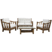 Kauai Bamboo 4 PC Living Set with Cushions