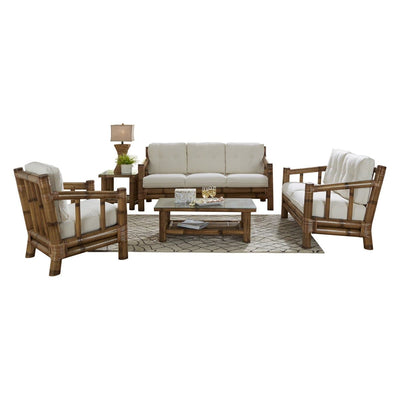 Kauai Bamboo 5 PC Living Set with Cushions