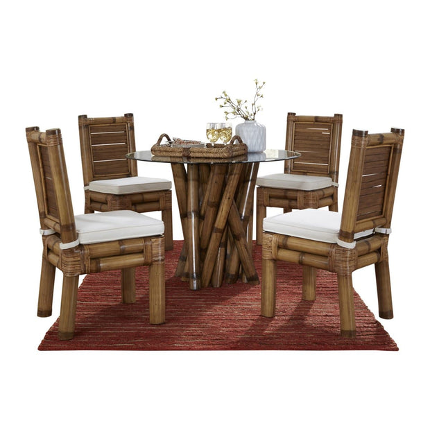 Kauai Bamboo 6 PC Dining Set with Cushions