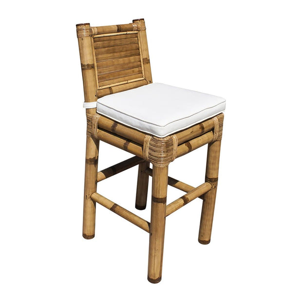 Kauai Bamboo Barstool with Cushion