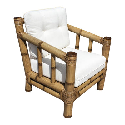 Kauai Bamboo Lounge Chair with Cushions