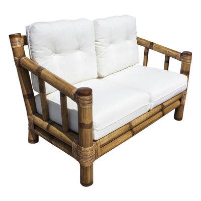 Kauai Bamboo Loveseat with Cushions