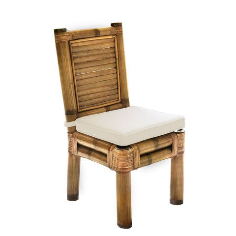 Kauai Bamboo Side Chair with Cushion