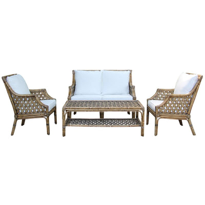 Old Havana 4 PC Living Set with Cushions