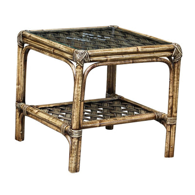 Old Havana End Table with Glass