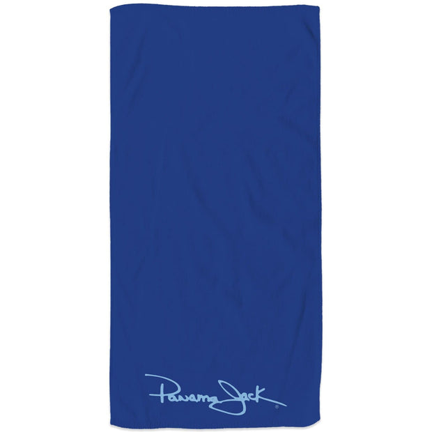 Embroidered Signature Logo Beach Towel