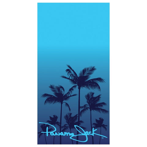 Blue Ombre Palm Beach Towel