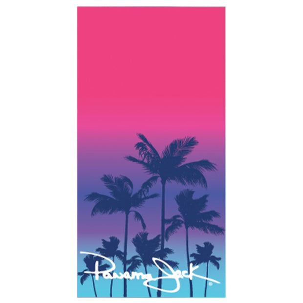Pink Ombre Palm Beach Towel