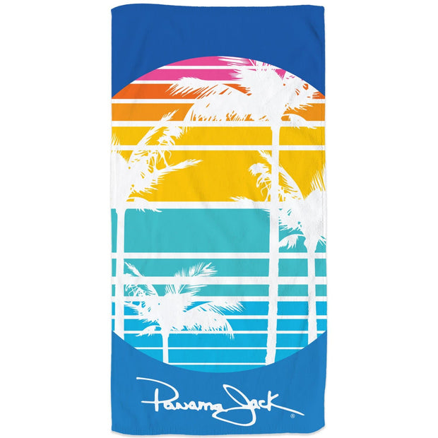 Striped Palms Signature Beach Towel