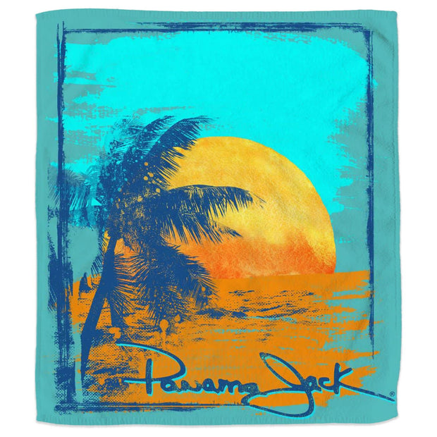 Vintage Sunset Palm Blanket Beach Towel