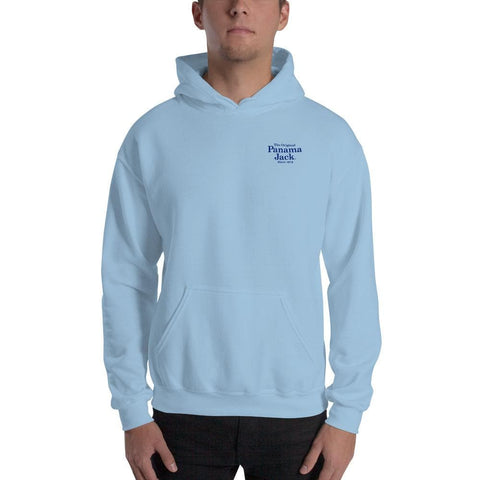 Original Sun Tan Products Unisex Hoodie - 2 Sided Blue Print