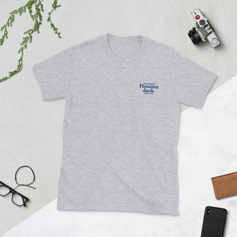 Original Sun Tan Products Short-Sleeve Unisex T-Shirt - 2 Sided Blue Print