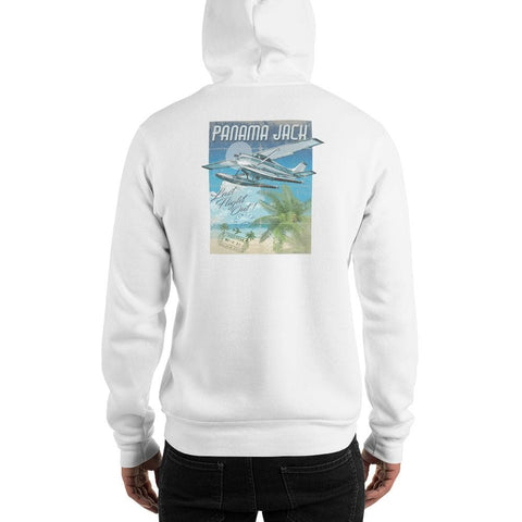 Seaplane Last Flight Out Unisex Hoodie - 2 Sided Print