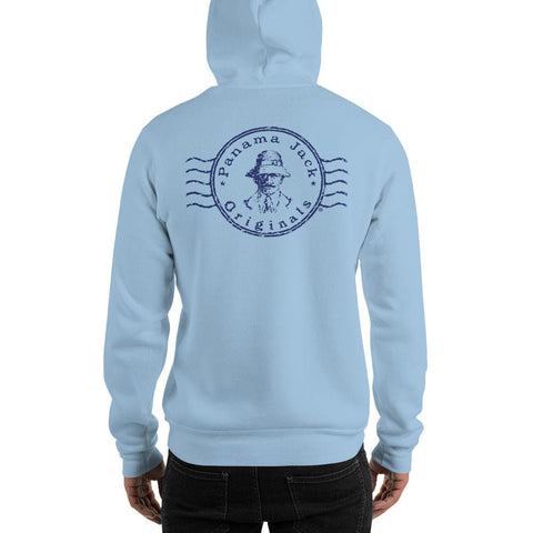 Original Stamp Man Unisex Hoodie - 2 Sided Blue Print