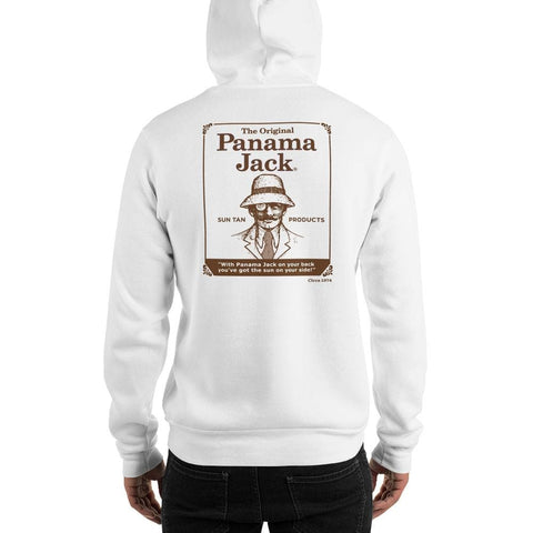 Original Sun Tan Products Unisex Hoodie - 2 Sided Brown Print