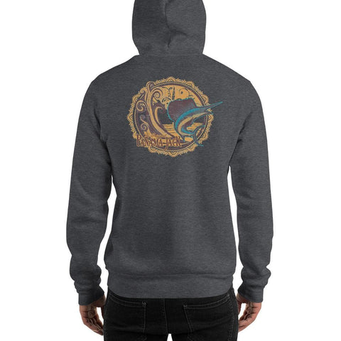 Woodcut Sailfish Unisex Hoodie - 2 Sided Print