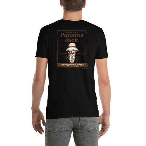 Original Sun Tan Products Short-Sleeve Unisex T-Shirt - 2 Sided Brown Print