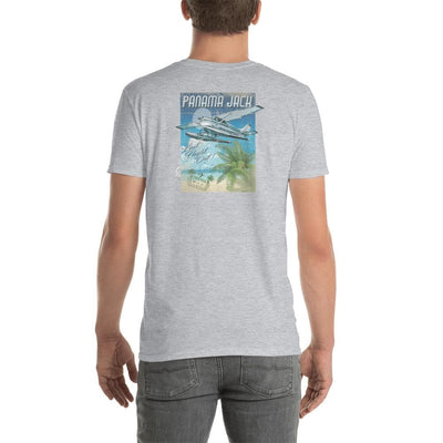 Seaplane Last Flight Out Short-Sleeve Unisex T-Shirt - 2 Sided Print