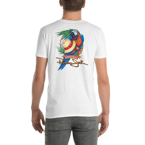 Original Parrot & Hat Short-Sleeve Unisex T-Shirt - 2 Sided Print