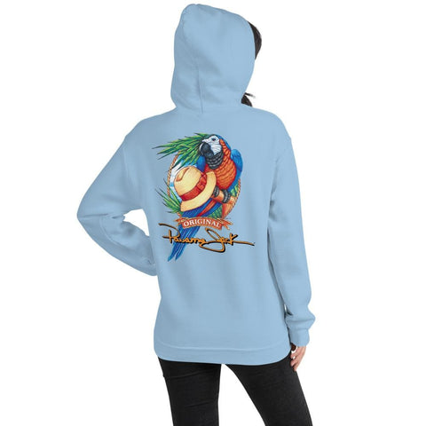 Original Parrot & Hat Unisex Hoodie - 2 Sided Print