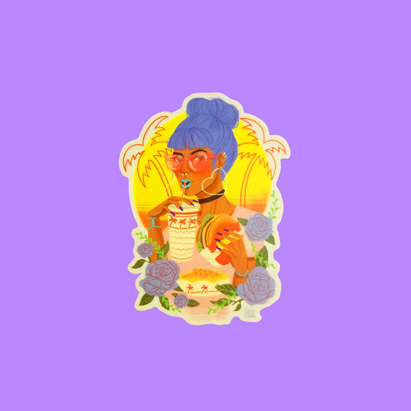 Burger Queen Sticker