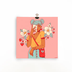 "Strawberry Girl Print (8""x8"")"