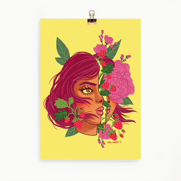Strawberry Girl Print (5