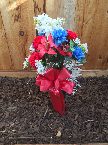 Deluxe Silk Lilly Mix Bouquet