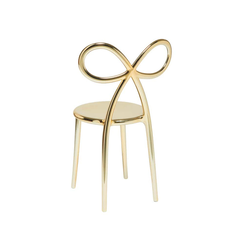 Gold Metal Ribbon Chair