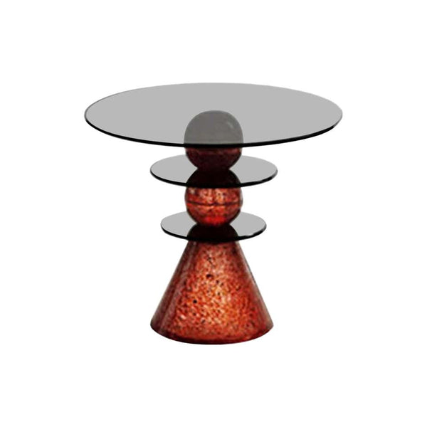 Red Glass Side Table