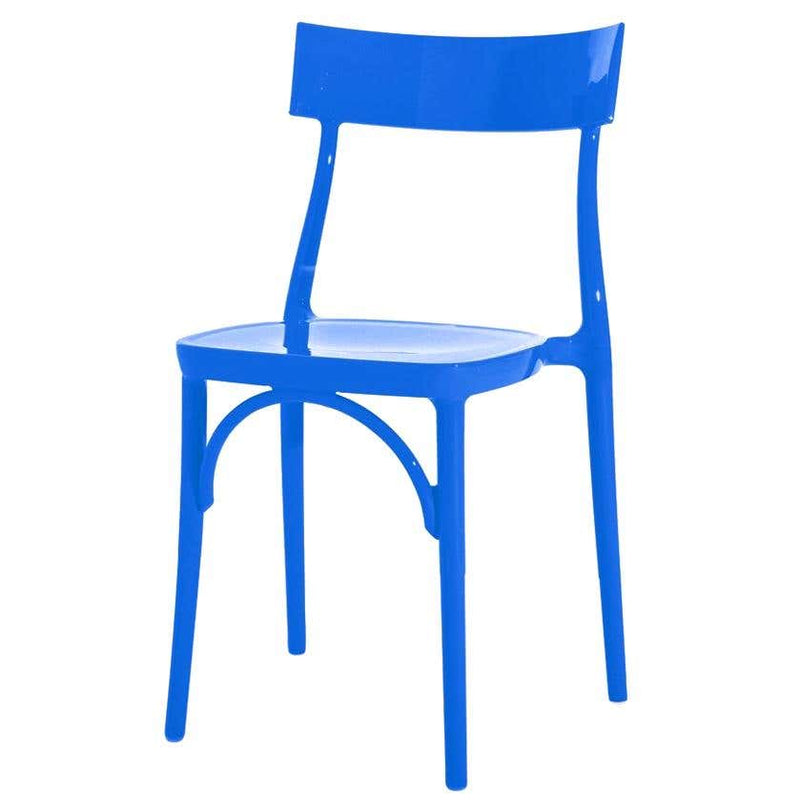 Milani Glossy Blue Majorelle Polycarbonate Dining Chair