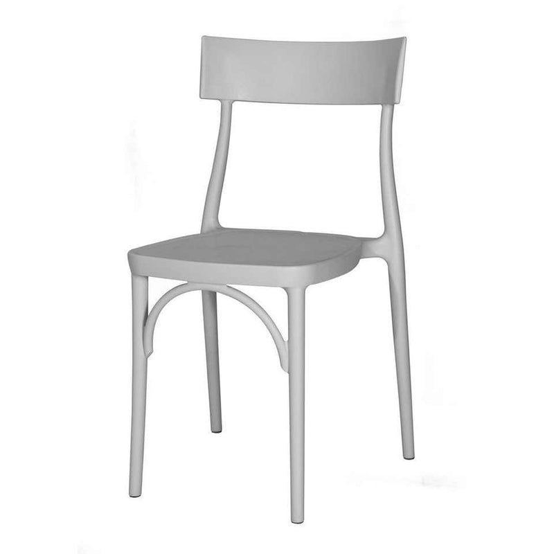 Milani, Silver Grey Polypropylene Dining Chair